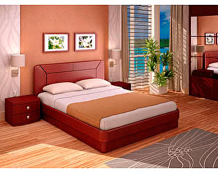Кровать Торис ЮМА С9 (Матино-орех)