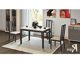 Раздвижной стол Бештау Диез Т11 (ОГ-011.001) со стульями Этюд Т4