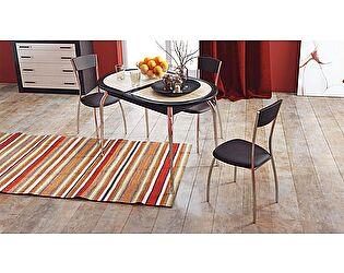 Стол обеденный ТриЯ Стамбул с хромированными ножками, арт. СМ-220.03.1
