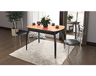 Стол обеденный ТриЯ Милан раздвижной со стеклом на деревянных ножках, арт.