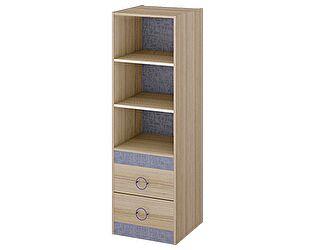 Шкаф-стеллаж ТриЯ Индиго ПМ-145.08 с полками для книг