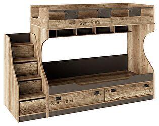 Кровать двухъярусная ТриЯ Пилигрим СМ-276.11.01 с приставной лестницей