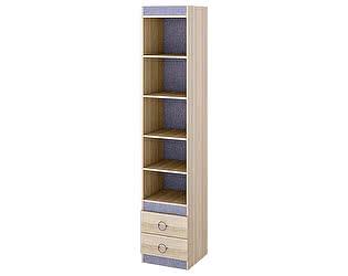 Шкаф-стеллаж ТриЯ Индиго ПМ-145.09 с полками для книг