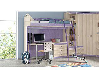 Кровать-чердак с рабочей зоной «Индиго» №3 ГН-145.003