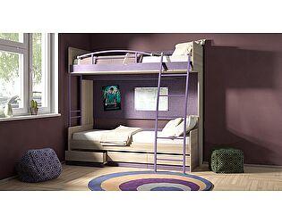 Двухъярусная кровать ТриЯ Индиго №5, арт. ГН-145.005