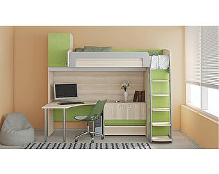 Кровать-чердак с рабочей зоной «Киви» №3 ГН-139.003