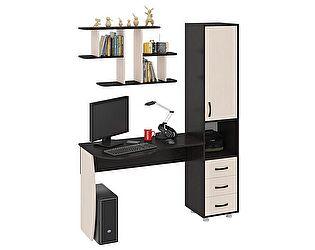 Компьютерный стол ТриЯ Гимназист М (комплект с полкой)