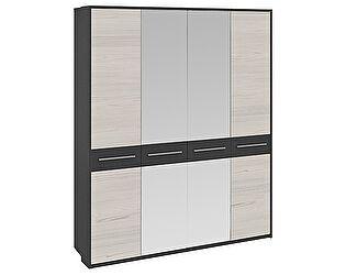 Шкаф ТриЯ Сити (СМ-194004) ГН-194.044 с 2-мя зеркальными и с 2-мя глухими дверями