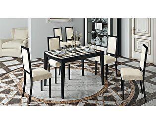 Обеденный стол ТриЯ Танго Т2 раздвижной со стеклом, арт.С-362