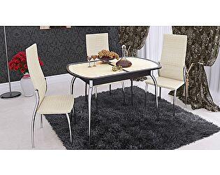 Стол обеденный ТриЯ Ницца раздвижной с хромированными ножками, арт. СМ-217.01.1