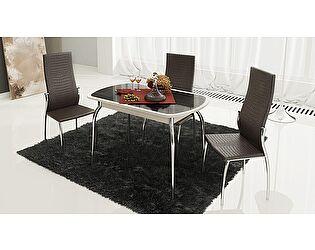 Купить стол ТриЯ Ницца раздвижной с хромированными ножками , арт. СМ-217.01.1