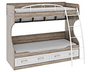 Кровать Трия Прованс двухъярусная с металлической лестницей, СМ-223.11.002
