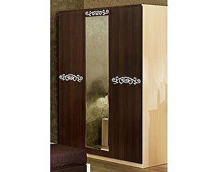 Шкаф 3х дверный с зеркалом Уфамебель Carolina