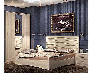 Кровать Уфамебель Джустин 160 (кожа bisquit)