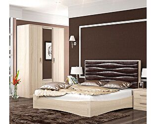 Кровать Уфамебель Джустин 160 (кожа chocolate)