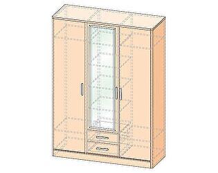 Шкаф 3х дверный Уфамебель Джустин