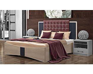 Кровать Уфамебель Франческо 160 бордо