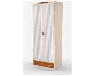 Шкаф Уфамебель Кэри Gold 2-х дверный с зеркалом