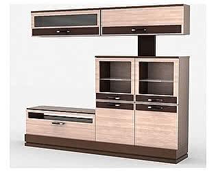Купить шкаф Уфамебель комбинированный на цоколе Николь, правый