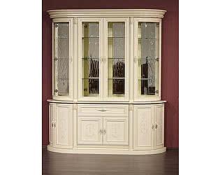 Купить шкаф Юта Милан 1-01+2-01 витрина 4х дверная