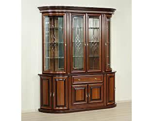 Купить шкаф Юта Милан 1+2 витрина 4х дверная (орех)