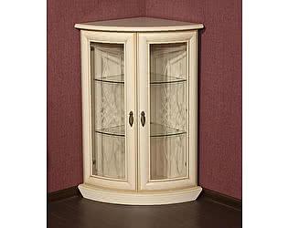 Шкаф для посуды Юта Милан 5 угловой стеклянный (позитано)