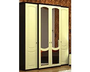 Шкаф 4х дверный с зеркалом VitaMebel Vivo-6