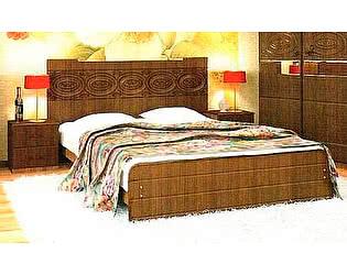 Кровать с основанием (140) VitaMebel Vivo-8 мокко