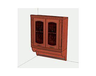 Шкаф-витрина с колоннами Витра Глория, 06.11