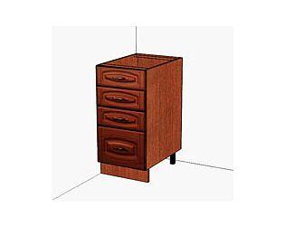 Стол с 4-мя ящиками Витра Глория, 06.56.2