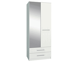 Шкаф Мастер МФ Ланс-23 Белый с зеркалом