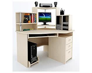 Угловой компьютерный стол ВМФ Адриан-5 с надставкой