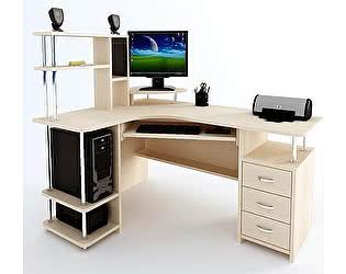 Угловой компьютерный стол ВМФ Адриан-7 с надставкой