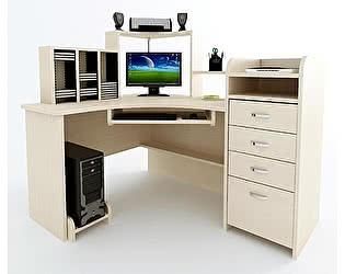 Угловой компьютерный стол ВМФ Адриан-8 с надставкой