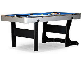 Складной бильярдный стол для пула WeekEnd Team I 6 футов (черный) ЛДСП
