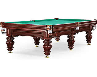 Купить стол WeekEnd бильярдный для русского бильярда Turin 9 футов (вишня, 6 ног, плита 38мм)