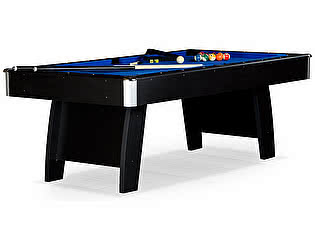 Бильярдный стол для пула WeekEnd Riga 7 футов (черный) ЛДСП в комплекте аксессуары