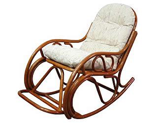 Кресло-качалка с подставкой Натур-мебель 05/17