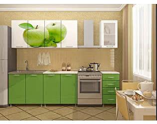 Кухня Пенза мебель ЛДСП с фотопечатью Яблоко 2м