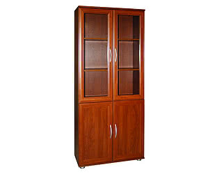 Шкаф для книг Мебельный двор МД2.03 со стеклом