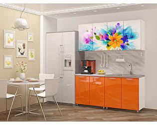 Кухня Пенза мебель МДФ с фотопечатью Фантазия 1,6м
