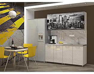 Кухня Пенза мебель МДФ с фотопечатью Сити 1,6 м