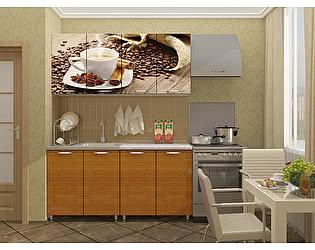 Кухня Пенза мебель МДФ с фотопечатью Кофе 1,6 м