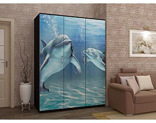 Шкаф с фотопечатью Вавилон 58 Дельфины МДФ