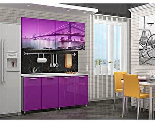 Кухня Пенза мебель МДФ с фотопечатью Бридж 1,6 м