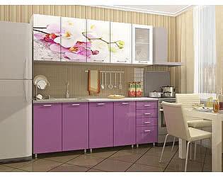 Кухня Пенза мебель МДФ с фотопечатью Орхидея 2м
