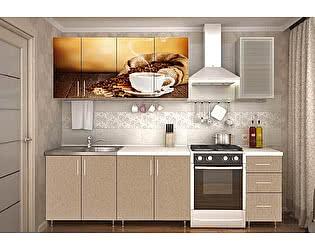 Кухня Пенза мебель ЛДСП 2м Кофе