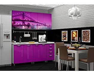 Кухня Пенза мебель МДФ с фотопечатью Бридж 2м