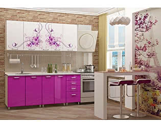 Кухня Пенза мебель МДФ с фотопечатью Вдохновение 2м