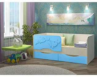 Детская кровать Вавилон 58 Дельфин-2 МДФ 1,6 м.